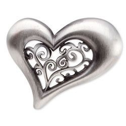 Filigree Heart Key Finder from Finders Key Purse Collection