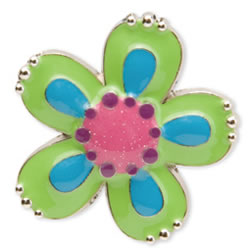 Green Flower Key Finder from Finders Key Purse Collection
