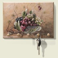 Grapevine Breeze Wood Key Holder