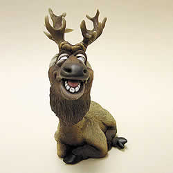 Elk Funny Bobblehead Animal by Swibco
