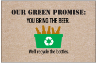 Our Green Promise Beer Doormat