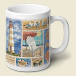 Coastal Collage Mug