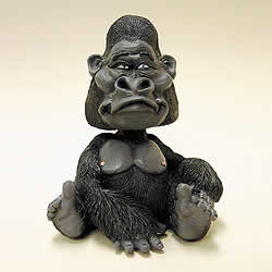 "3"" Gorilla Fun Bobblehead Animal by Swibco"