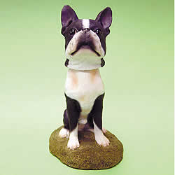 Boston Terrier Bobblehead Dog by Swibco