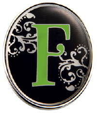 F Monogrammed Key Finder from Finders Key Purse