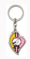 Crystallized Morning Bird Heart Fob Key Chain