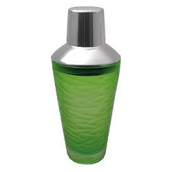 Green Etched Glass Martini Shaker