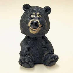 Black Bear Bobblehead Animal by Swibco