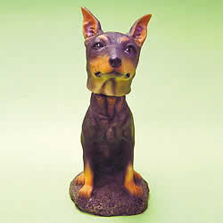 Doberman Pinscher Bobblehead Dog by Swibco