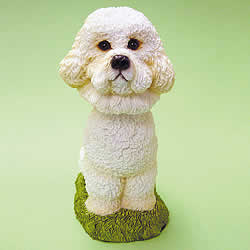 Bichon Frise Bobblehead Dog by Swibco