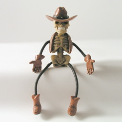 Critter Sitter Skeleton Cowboy by Swibco