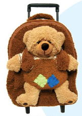 Brown Teddy Bear Plush Best Buddy Roller Backpack