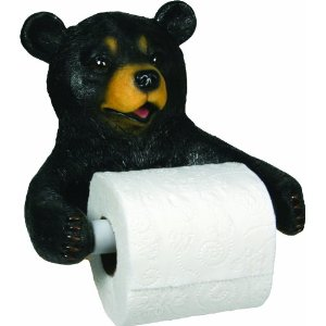 Bathroom Cute Bear (resin) Toilet Paper Holder