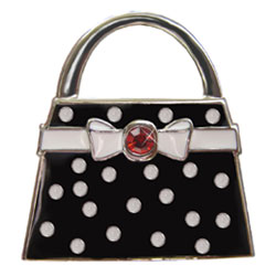 Finders Key Purse Black Polka Dot Key Finder