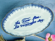 As Time Flies Blue Ring Tray