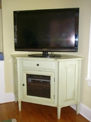 Custom Corner Flat Screen TV Console