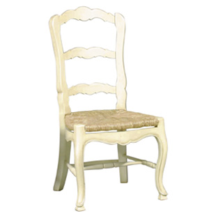 Country French Ladderback Side Chair