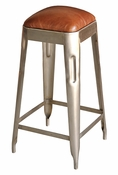 Steel & Leather Counter Stool