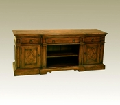 Wood Flat Screen TV Console