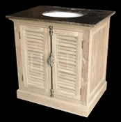 Pine Bathroom Vanity with Blue Stone Top