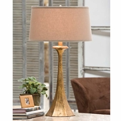 Tapered Gold Lamp