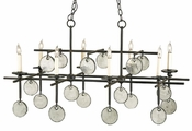 Iron & Recycled Glass Chandelier