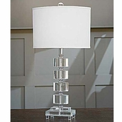 Stacked Oval Crystal Lamp