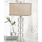 Stacked Crystal Cube Lamp