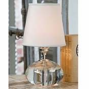 Oval Crystal Table Lamp
