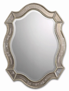 Etched Scallopped Mirror