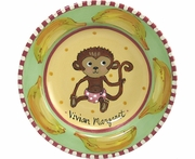 Child's Line/Monkey Pink - Deep Salad Plate