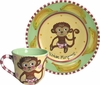 Child's Line/Monkey Pink - Child's Place Setting