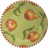 Daisy/Pear - Rimmed Dinner Plate