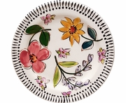 Fun Flower - Rimmed Salad Plate