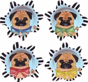 Pug - Desset Cup Set of 4