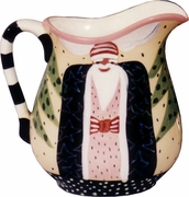 Father Christmas/Black - Large Pitcher