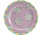 Pierced Hearts - Rimmed Salad Plate