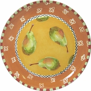 Fruit Frenzy/Pear - Unrimmed Dinner Plate