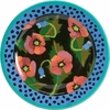 Moonlight Poppy - Rimmed Dinner Plate