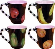 Black Fruit - Mug Set of 4