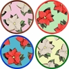 Poinsettia - Unrimmed Salad Plate Set of 4