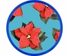 Poinsettia/Blue - Unrimmed Salad Plate