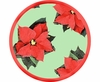 Poinsettia/Green - Unrimmed Salad Plate