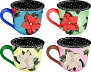 Poinsettia - Cup Set of 4