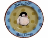 Child's Line/Penguin Blue - Deep Salad Plate