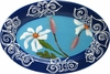 Daisy/Blue - Small Oval Platter
