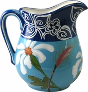 Daisy/Blue - Large Pitcher