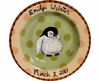 Child's Line/Penguin Peach - Deep Salad Plate