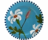 Daisy/Blue - Rimmed Salad Plate