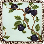 Nature's Fruit/Plum - Square Dinner Plate